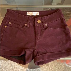 Super soft maroon shorts